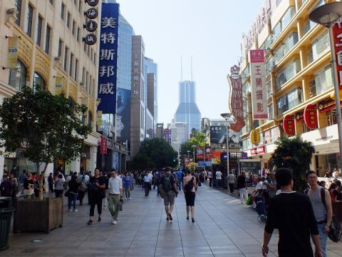 南京路の歩行者天国
